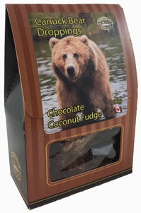Canuck Bear Droppings Chocolate Coconut Fudge