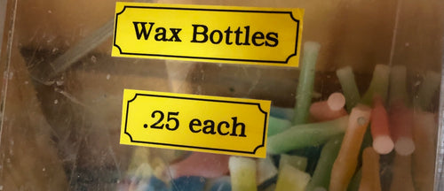 Wax Bottles $0.25 each