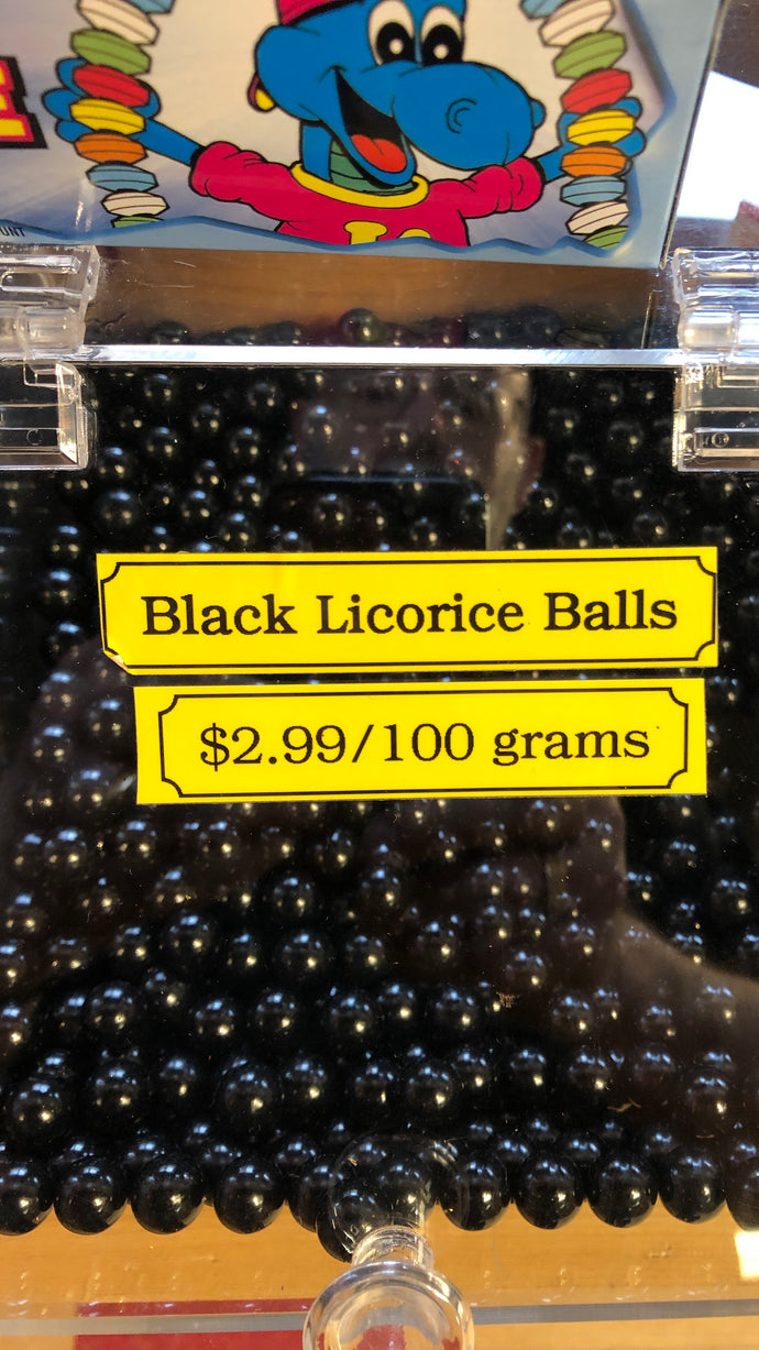 Black Licorice Balls $2.99 Bulk Bins/Jars