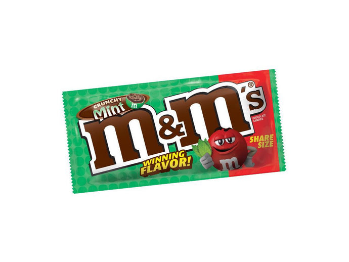 M&M's Share Size Bag Crunchy Mint was 80.2g