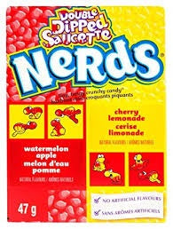 Wonka Nerds watermelon apple/cherry lemonade 47g box