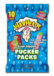 WARHEADS SOUR PUCKER PACK 3 OZ PEG BAG X 12 COUNT