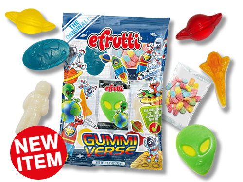 EFRUTTI GUMMIVERSE PEG BAG 2.7 OZ X 12 UNITS