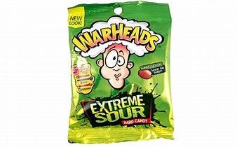 Warheads Extreme Sour Hard Candy Bag