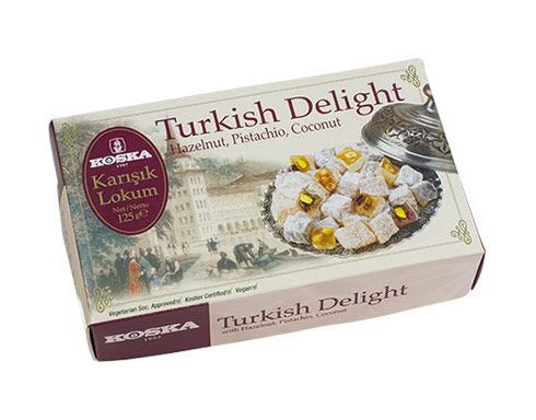 Koska 1907 Turkish  Delight Hazelnut, Pistachio, Coconut, Jarusk, Lokum