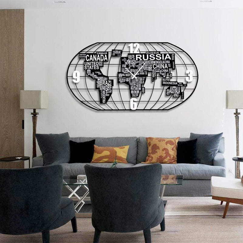 World Map Wall Clock Greenpills World