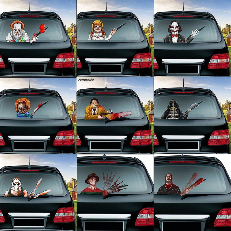 Horror Movies car back windshield waving stickers