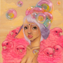 "Load image into Gallery viewer, ""Party Girl"" 12x12 Bamboo Mounted Print"