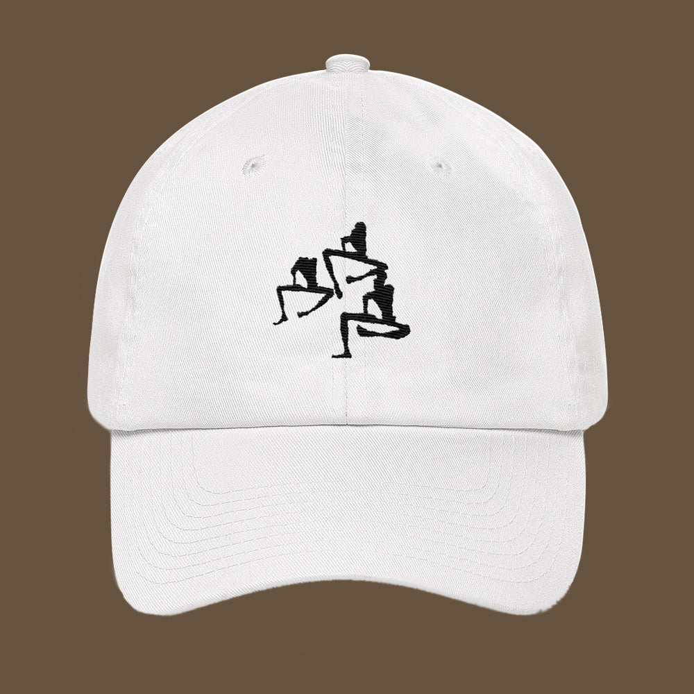 Three Man Silhouette Embroidery Dad hat