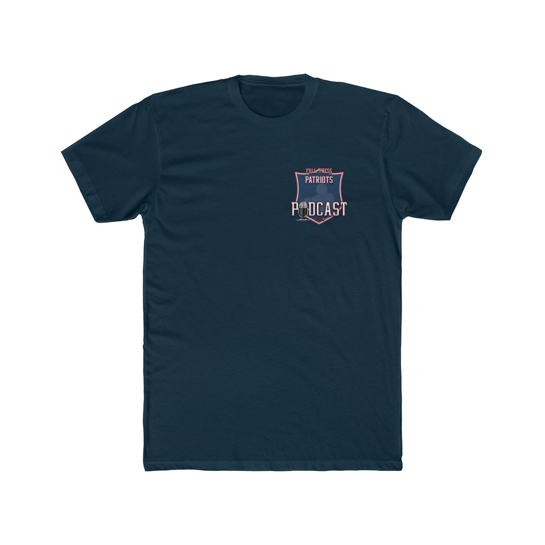 Full Press Patriots Podcast - Men's Cotton Crew Tee