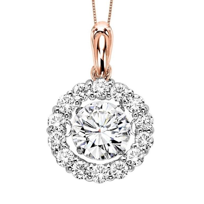 14K Diamond Rhythm Of Love Pendant 2ctw ( 1 1/2 ct ctr )