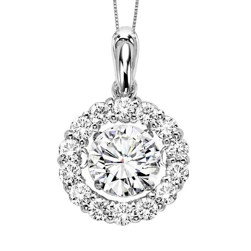 14KW Diamond Rhythm Of Love Pendant 2 1/2 ctw (2ct ctr)