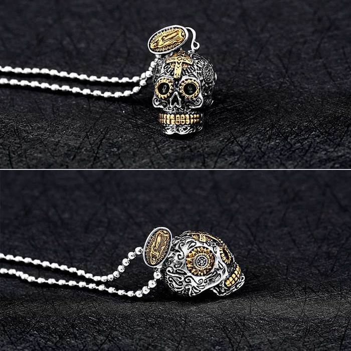 Necklace - Stainless Steel Skull Necklace