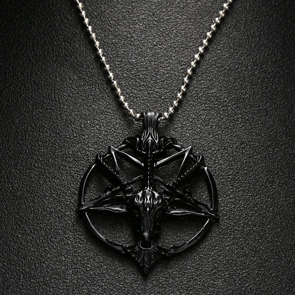 Skull Goat Head Pendant Necklace