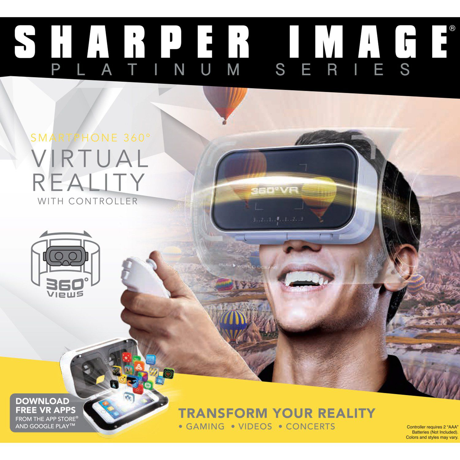 Sharper Image Virtual Reality Smartphone Viewer with Controller