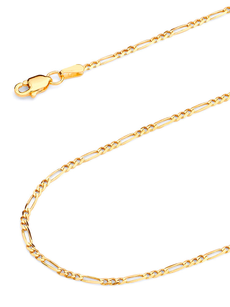 #12297 - 14K Gold Solid Figaro Chain