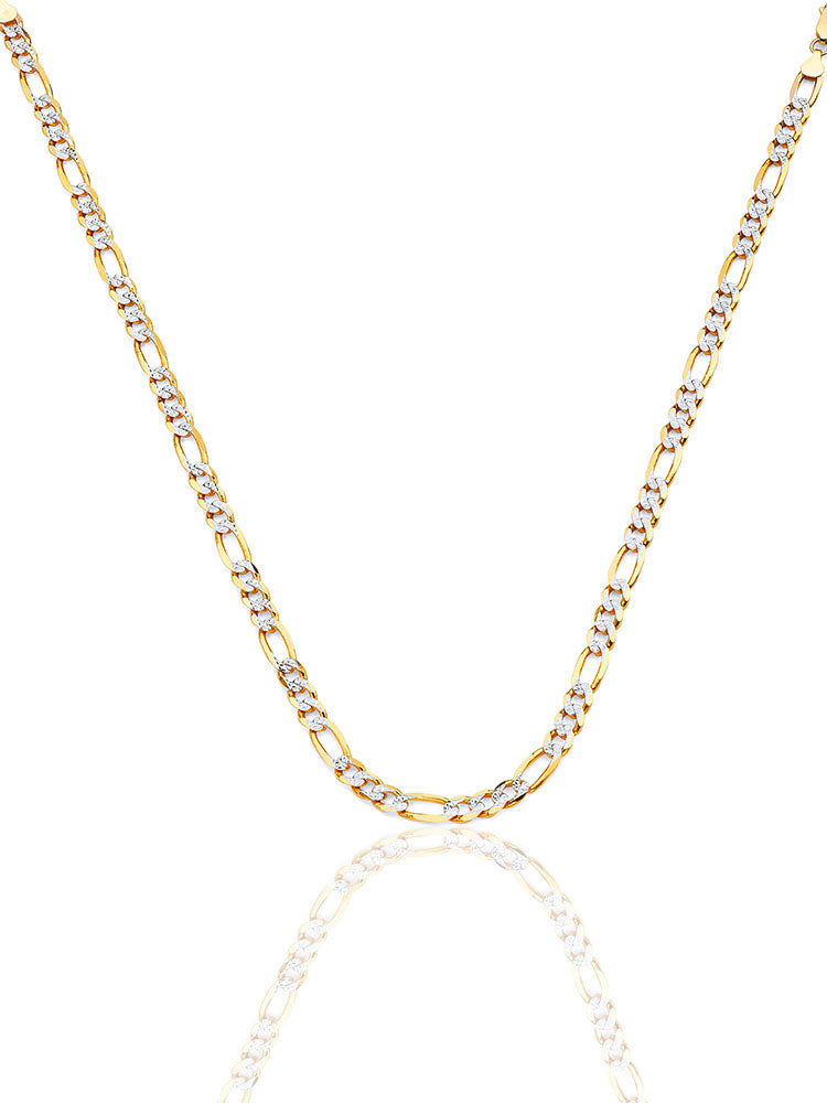 #12724 - 14K Solid Gold Figaro Chain in Two-Tone