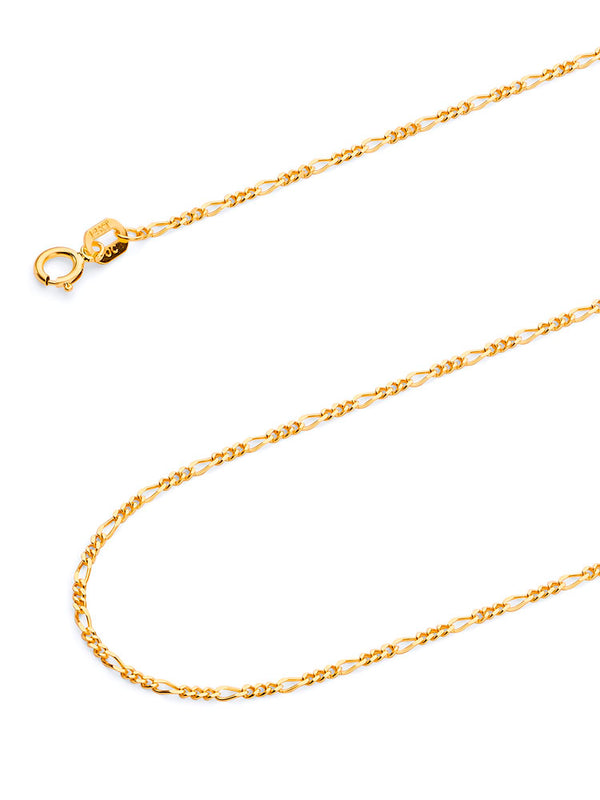 #12839 - 14K Solid Gold Figaro Chain