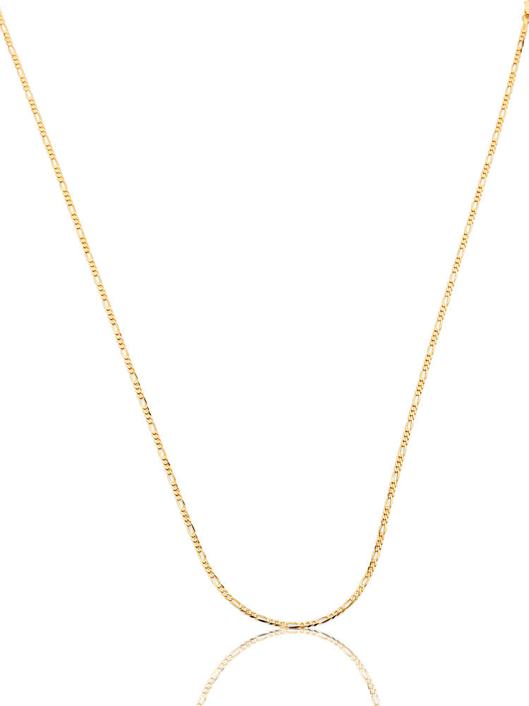 #12841 - 14K Solid Gold Figaro Chain