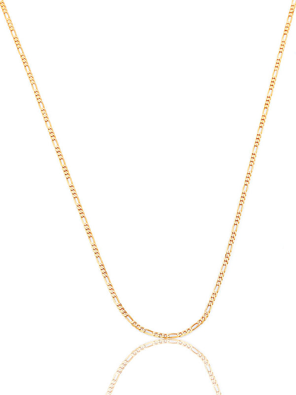 #12843 - 14K Solid Gold Figaro Chain