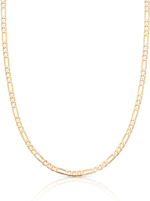 #12844 - 14K Solid Gold Figaro Chain