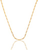 #12845 - 14K Solid Gold Figaro Chain
