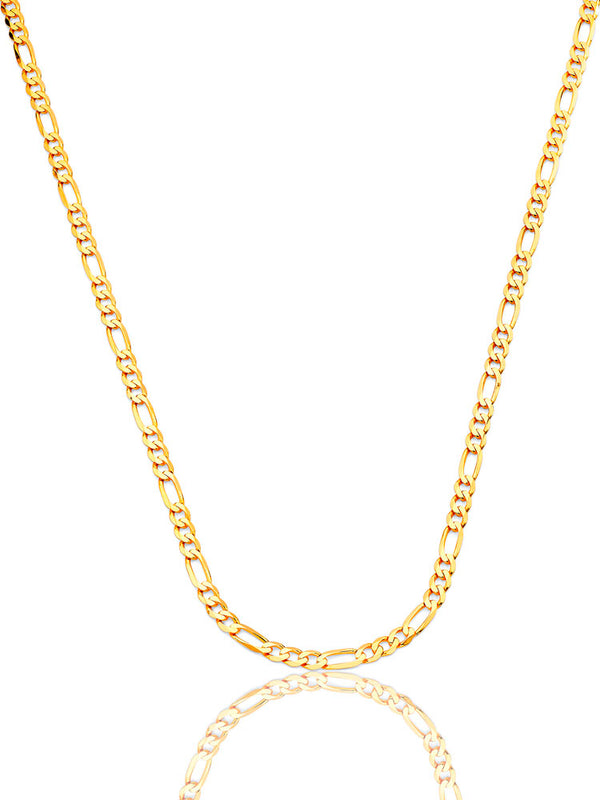 #12846 - 14K Solid Gold Figaro Chain