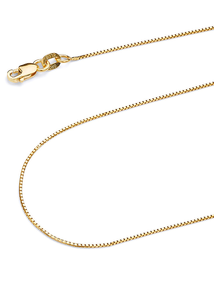 #12867 - 14K Solid Gold Box Chain