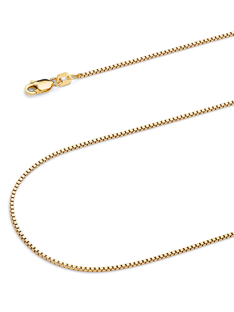 #12868 - 14K Solid Gold Box Chain