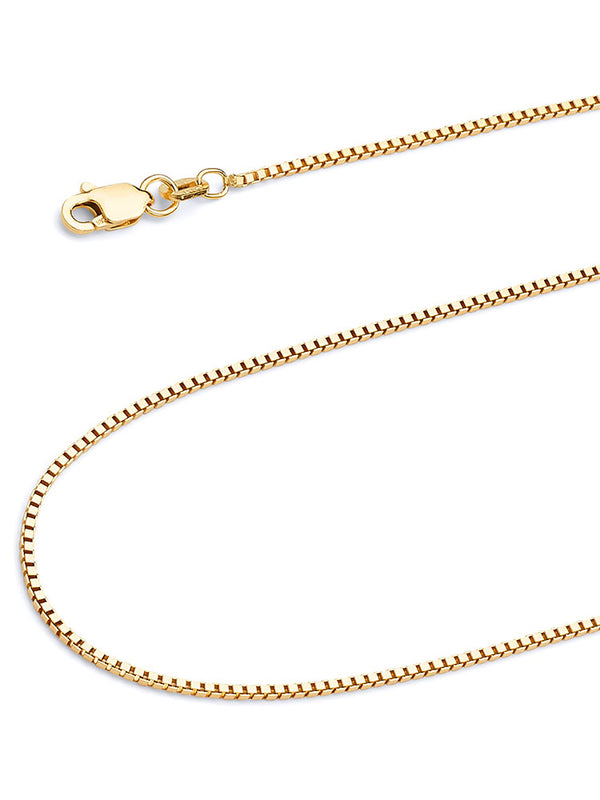 #12869 - 14K Solid Gold Box Chain