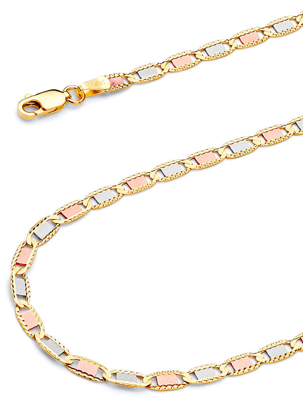 #17927 - 14K Solid Gold Valentino Chain in Tri-Color