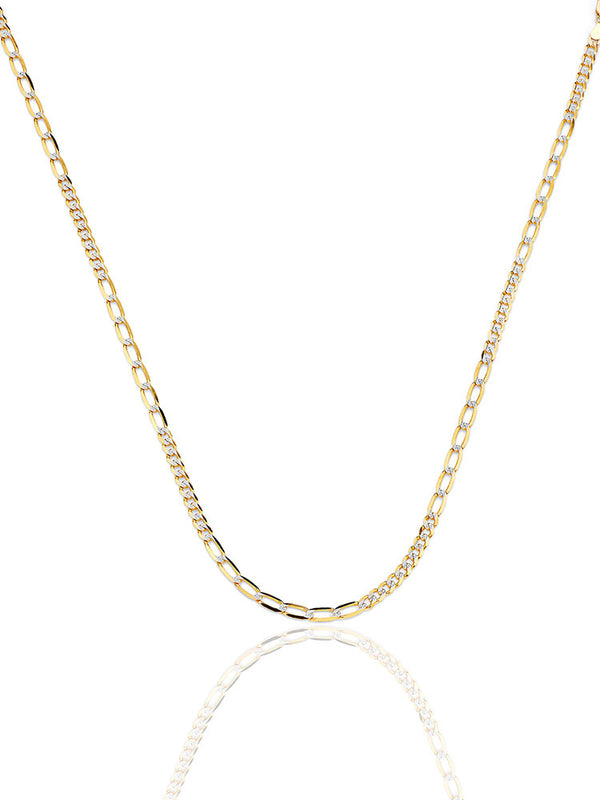 #17993 - 14K Solid Gold Link Chain inTwo-Tone