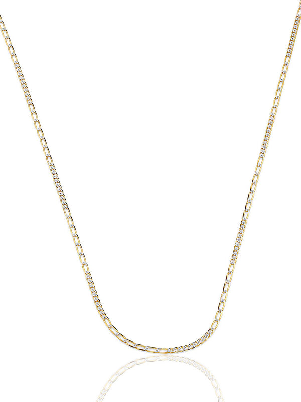 #17994 - 14K Solid Gold Link Chain in Two-Tone