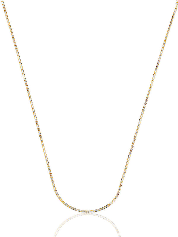 #17995 - 14K Solid Gold Link Chain in Two-Tone