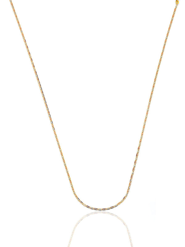 #202960 - 14K Solid Gold Valentino Chain in Tri-Color