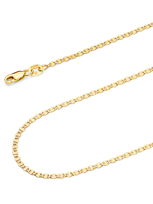 #202968  - 14K Solid Gold Mariner Chain