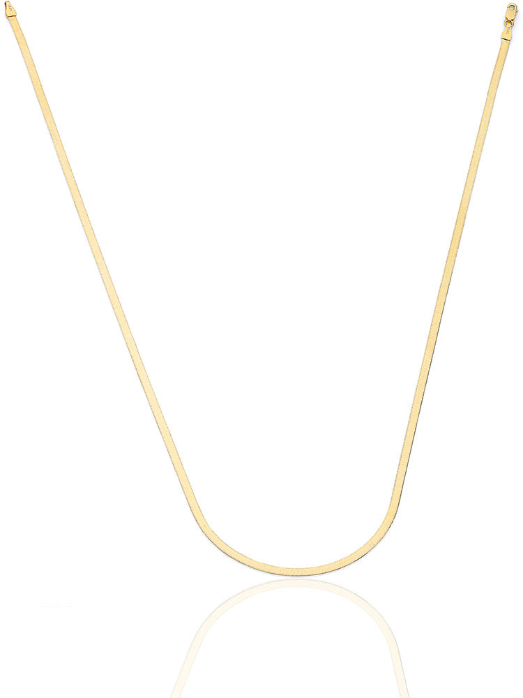 #203801 - 14K Solid Gold Herringbone Chain
