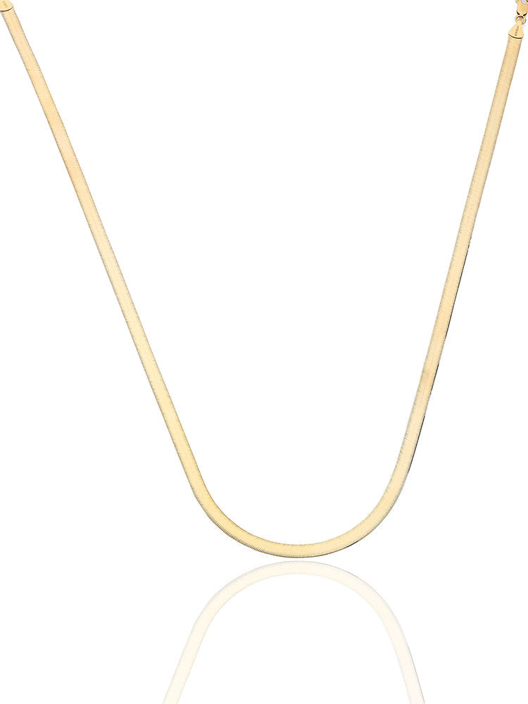 #203803 - 14K Solid Gold Herringbone Chain