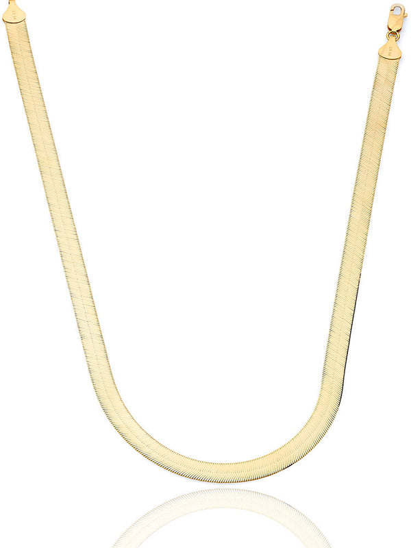 #203807 - 14K Solid Gold Herringbone Chain