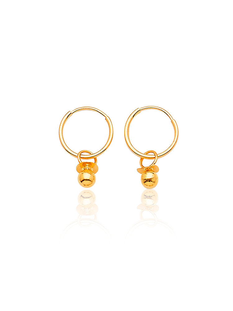 #205110 - 14K Solid Gold Small Hoop Earrings