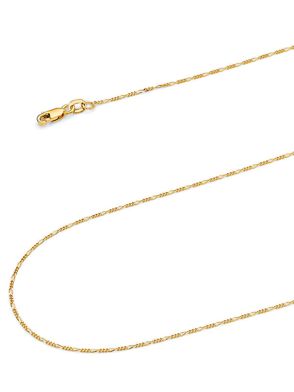 #22218 - 14K Solid Gold Figaro Chain