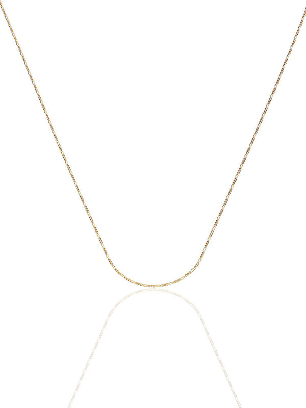 #22220 - 14K Solid Gold Figaro Chain in Two-Tone