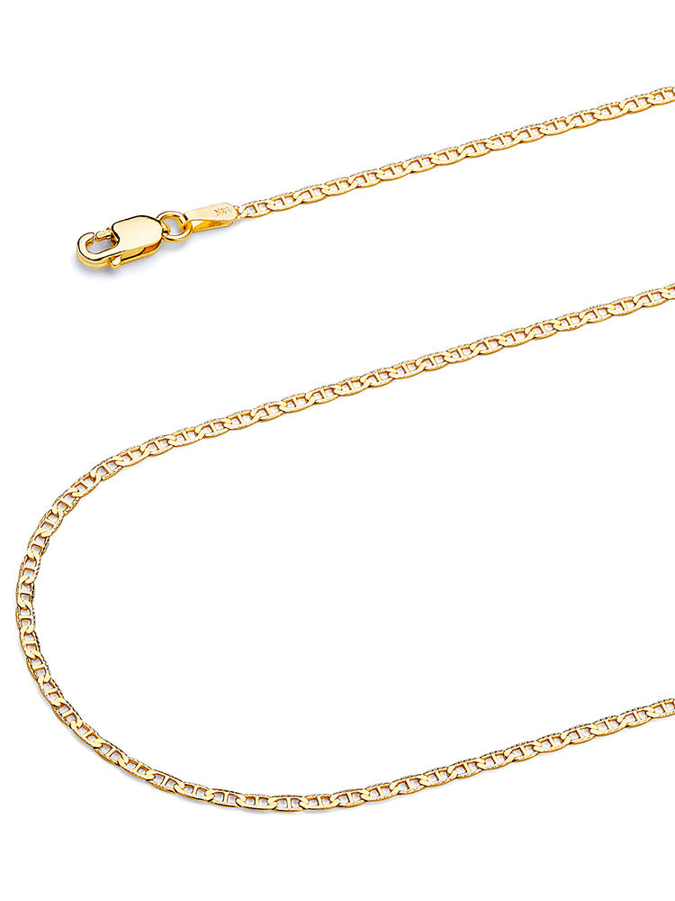 #22235 - 14K Solid Gold Mariner Chain in Two-Tone