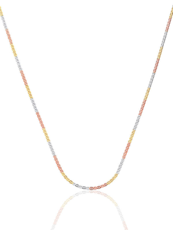 #23037 - 14K Solid Gold Mariner Chain in Tri-Color