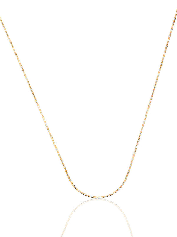 #23052 - 14K Solid Gold Valentino Chain in Tri-Color