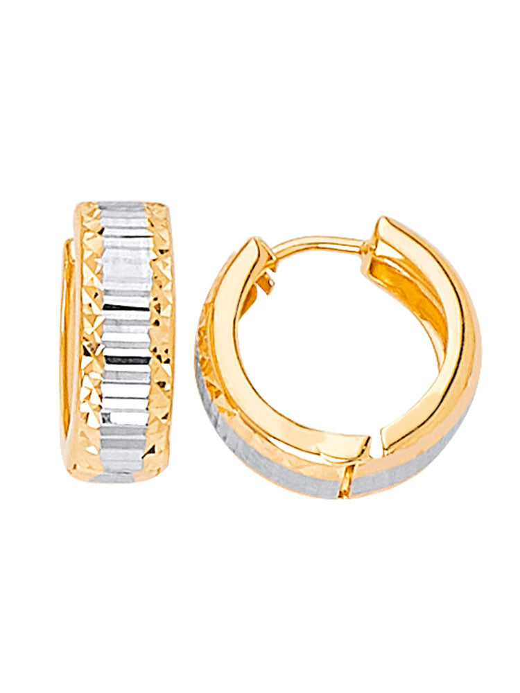 #24471 - 14K SOLID GOLD HUGGIE EARRINGS