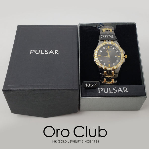 #40759 - Pulsar Black Ion Watch with Swarovski Crystals for Men