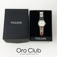 #41153 - Pulsar Crystal Decorative Silver Stainless Steel Watch for Women