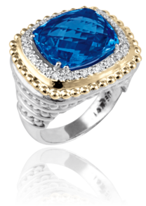 London Blue Topaz & Diamond Ring - Kuhn's Jewelers