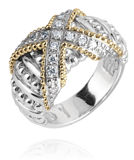Vahan - 14K Gold & Sterling Silver Diamond Ring - Kuhn's Jewelers